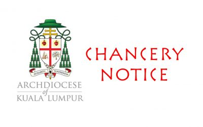 Archdiocese Notice – 5 July 2021